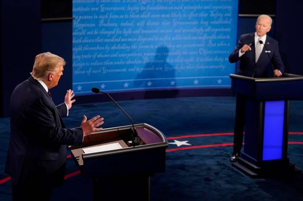 US election 2020, Trump, Biden, first debate, debate 2020