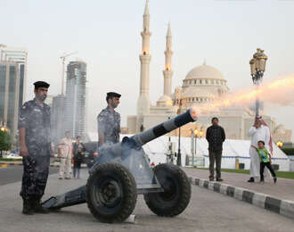 12 cannons to fire at Iftar time