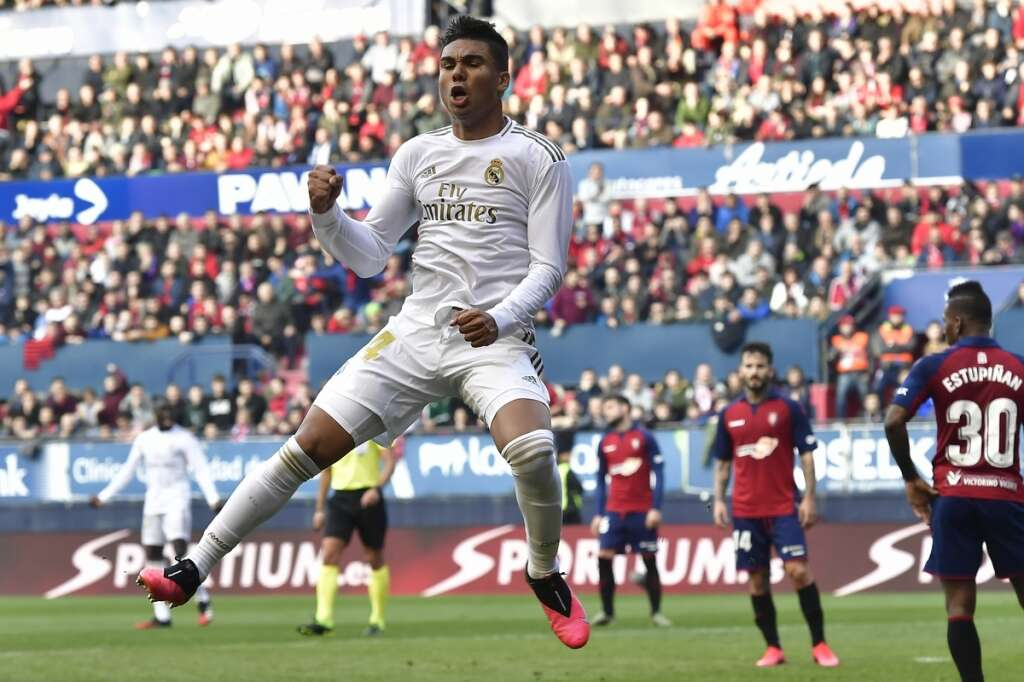 Table-toppers Real come from behind to beat Osasuna