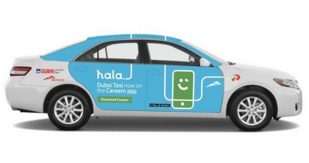 RTA, Hala, Dubai, taxi, Careem, taxi booking