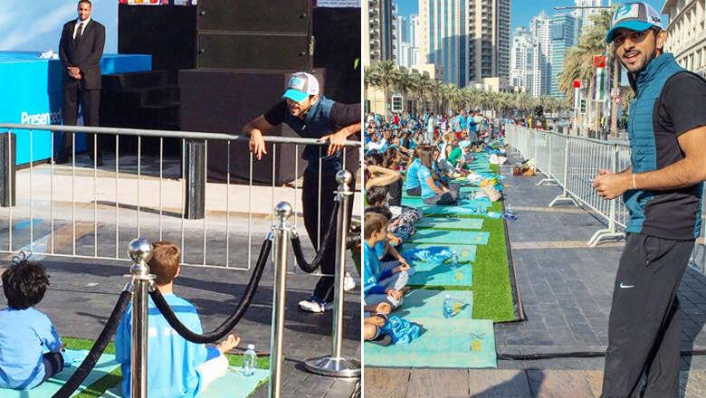 PHOTOS: Shaikh Hamdan attends Dubai yoga event