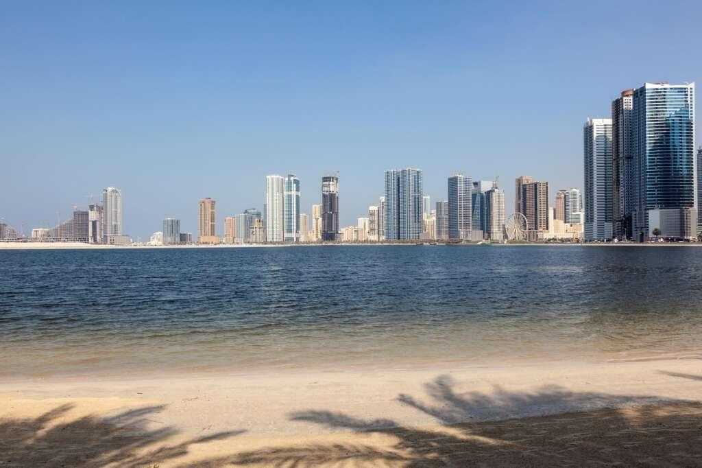sharjah public beach, coronavirus, covid-19