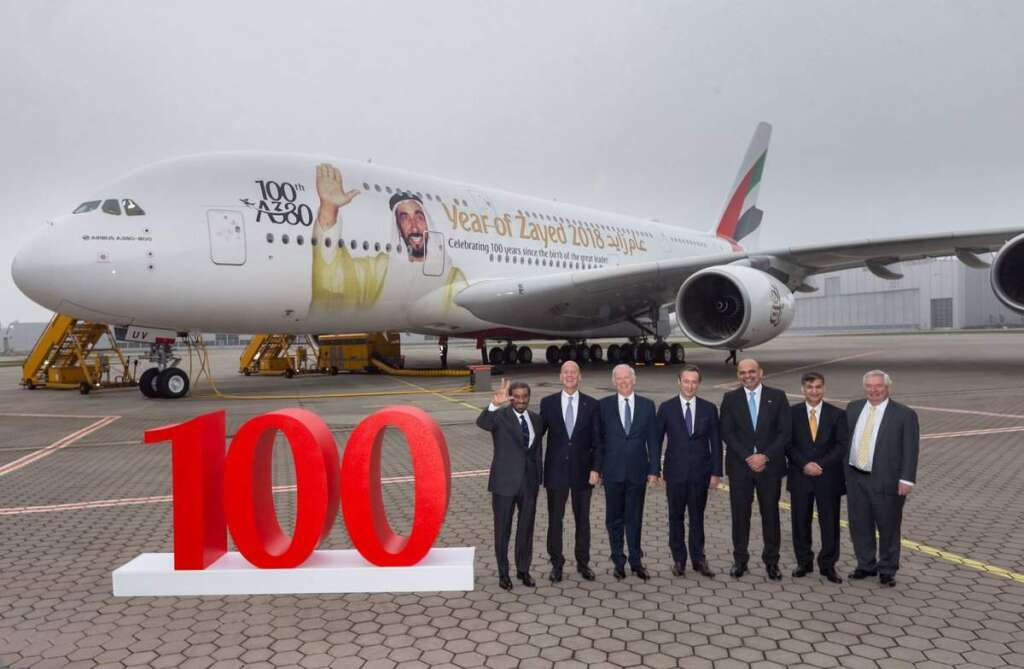 Emirates welcomes 100th A380 aircraft to its fleet