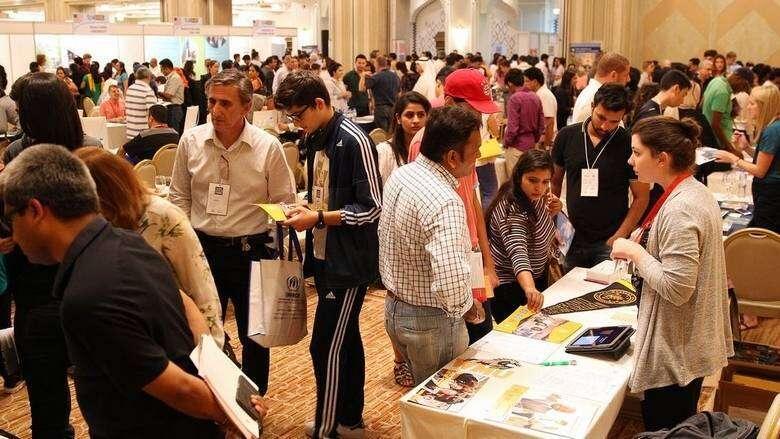 Hundreds, turn up, Sharjah, higher education, fair, International Education Show, IES 2020