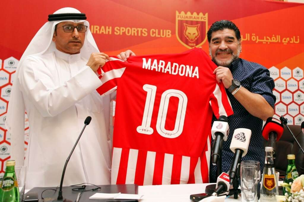 Maradona strikes again with a goal - and this time it's as