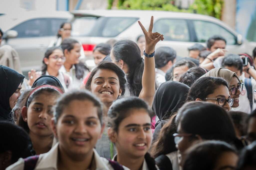 Happy Grade 12 Students Leave Indian High School After Getting Their Cbse Results In Dubai On May 26 2018 Photo By Neeraj Murali