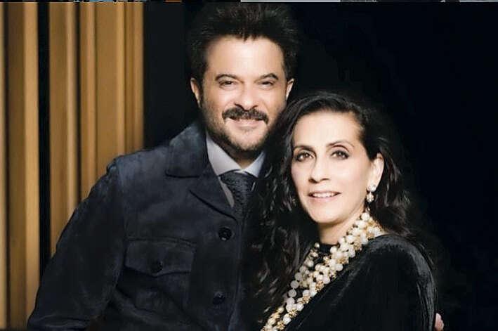 Anil Kapoor with nice, Wife Sunita Bhavnani Kapoor