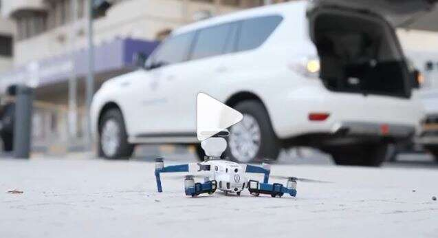 Video, Sharjah Police, use, drones, urge, people, stay home