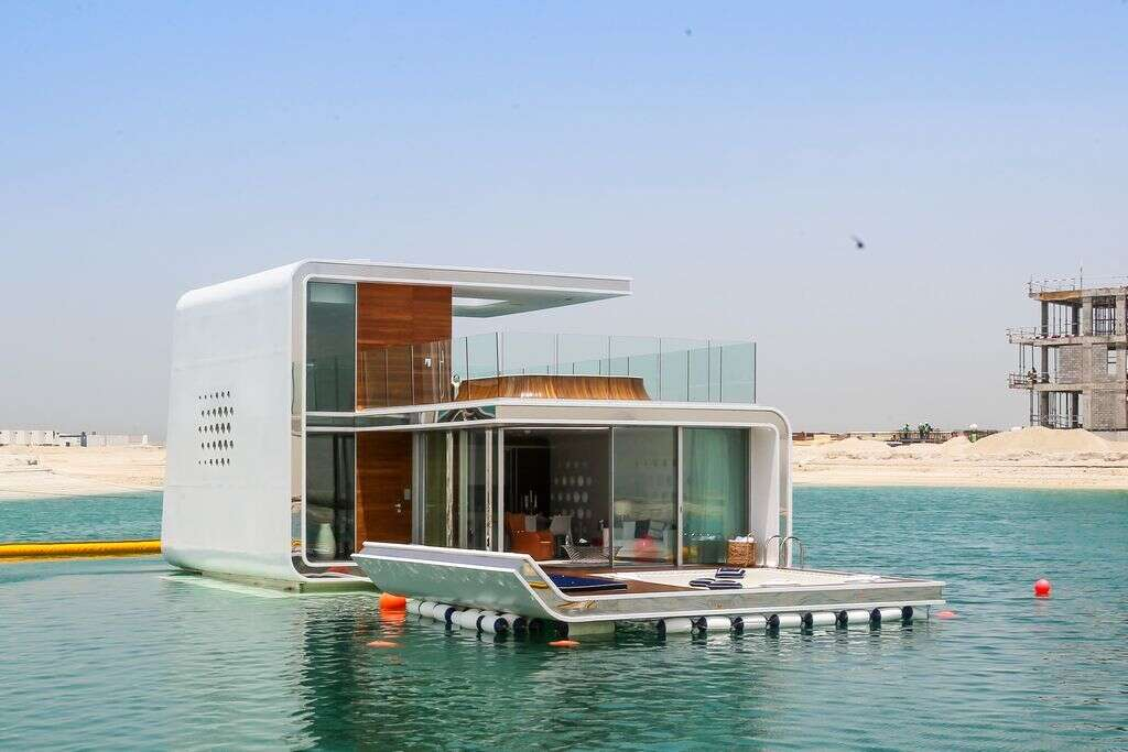 The Exterior Of Floating Seahorse At World Islands In Dubai Photo By Neeraj Murali