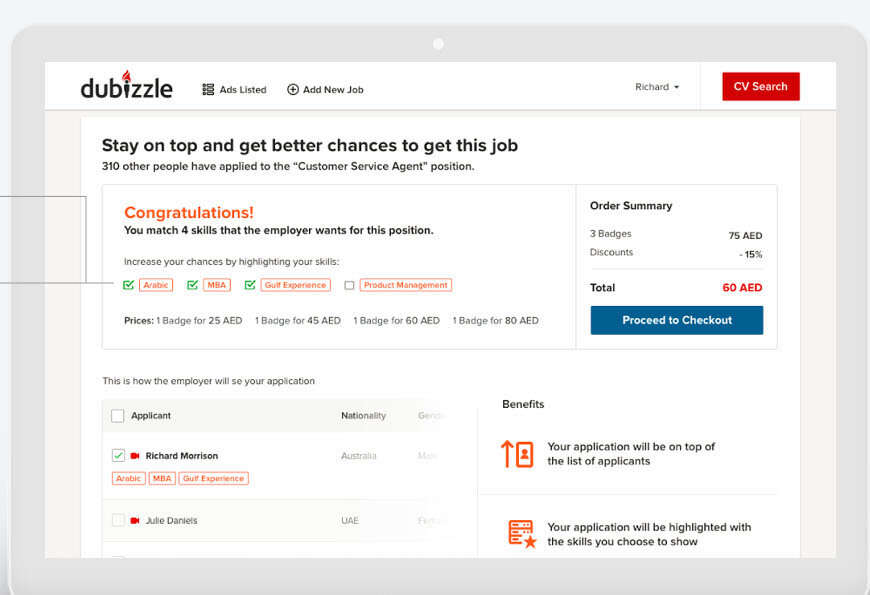 Dubizzle users can monitor status of job application - News