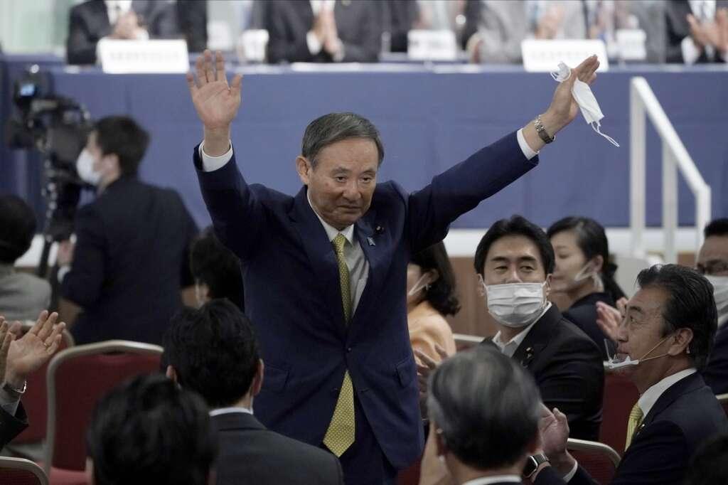 Yoshihide Suga, vote, Japan