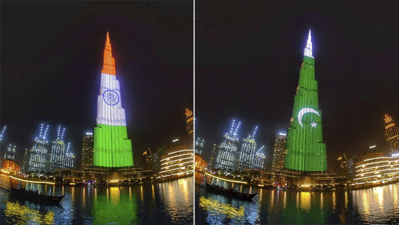 Pakistan, India flags displayed on Dubai's Burj Khalifa