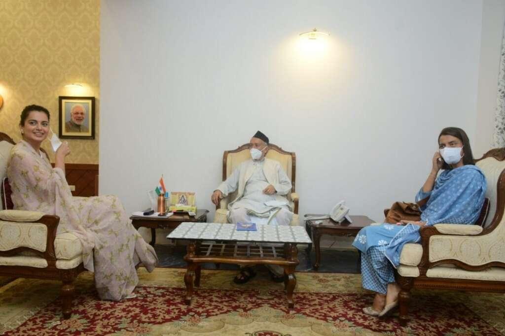 Kangana Ranaut, meets, Maharashtra, Governor, Mumbai, justice, requests, Bollywood, actress, Shiv Sena