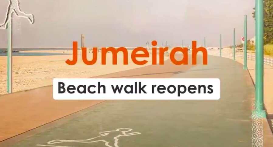 Jumeirah beach walk, coronavirus, covid-19, dubai municipality