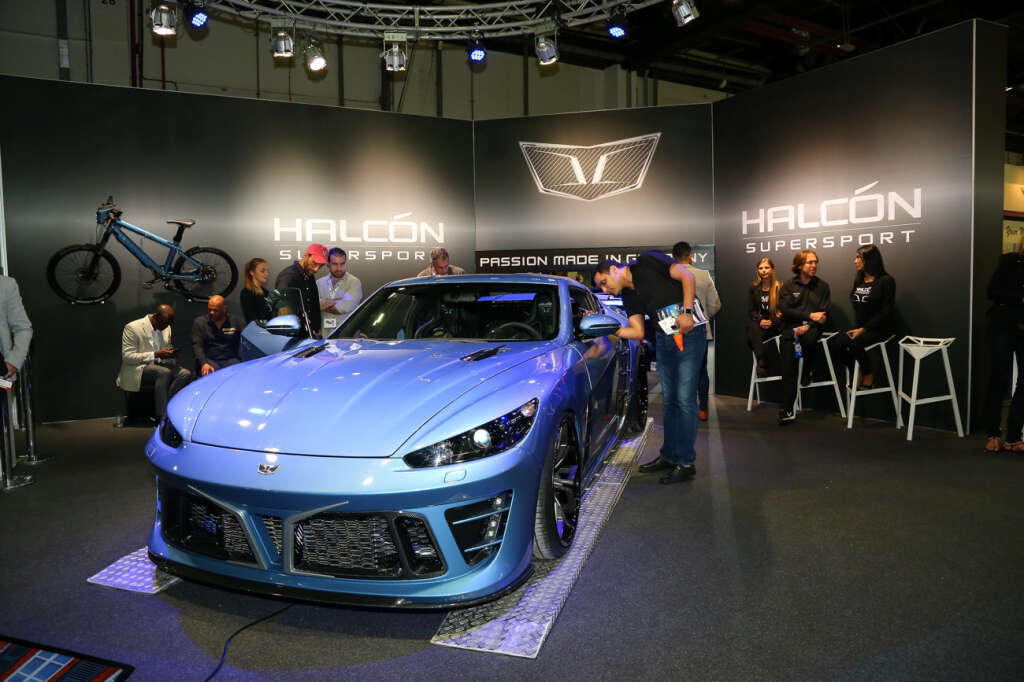 Panoz And Halcon Exhibiting In The Middle East For First Time Are Displayed At Dubai International Motor Show