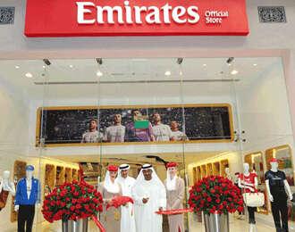 Emirates A380 touches down at Dubai Mall