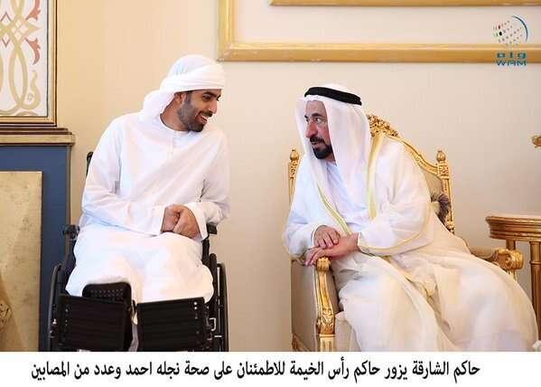 WATCH: Shaikh Sultan meets RAK Rulers son injured in Yemen