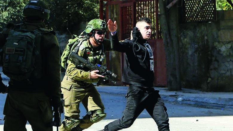 israeli, palestinian, flares