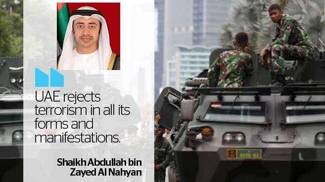 UAE FM Shaikh Abdullah condemns Istanbul blast