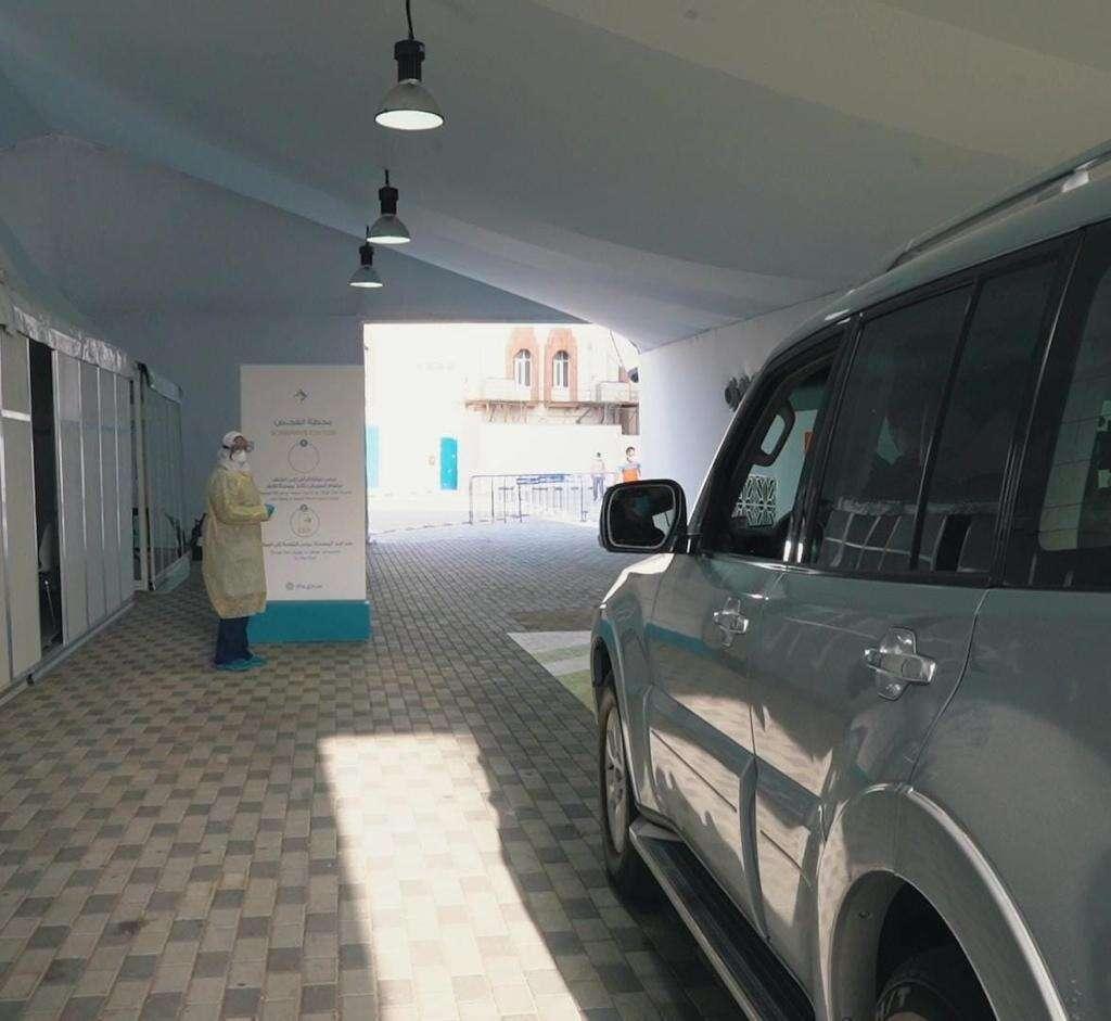 Combating, Covid-19, Dubai Health Authority, opens, drive-through, coronavirus, testing centre, Al Nasr Club