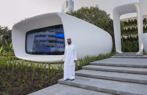 Shaikh Mohammed opens the world's first 3D-printed office in Dubai