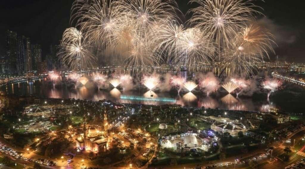 Al Majaz Fireworks, Happy New Year 2020, new year fireworks