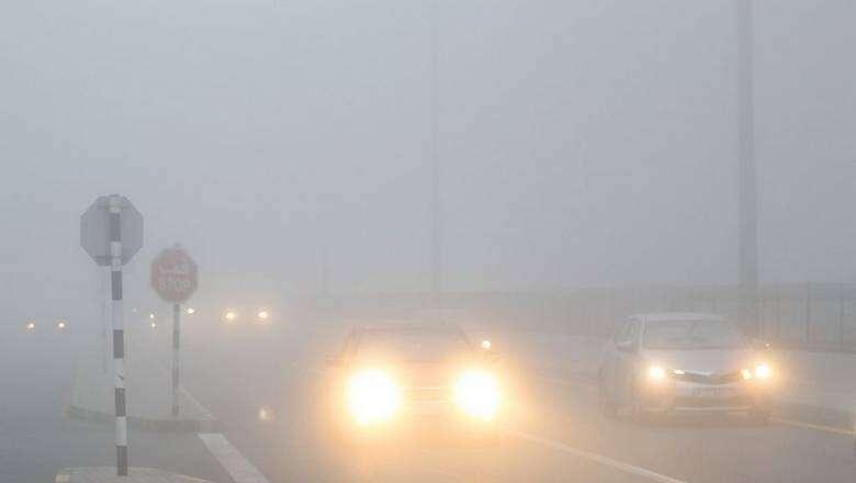 national center of meteorology, ncm, foggy weather, poor visibility, abu dhabi police, uae, warning