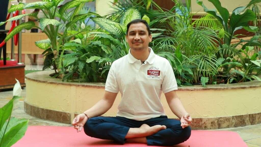 covid-19, coronavirus, yoga, International Yoga Day, UAE, Abu Dhabi, Lokesh Hegde, healthcare, frontliners