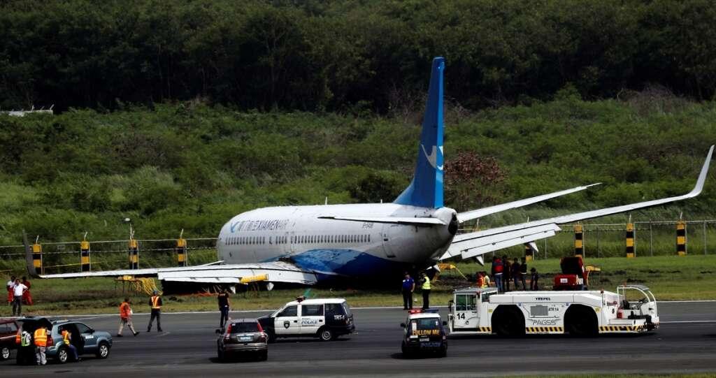 Plane crash lands, engine tears off in Manila