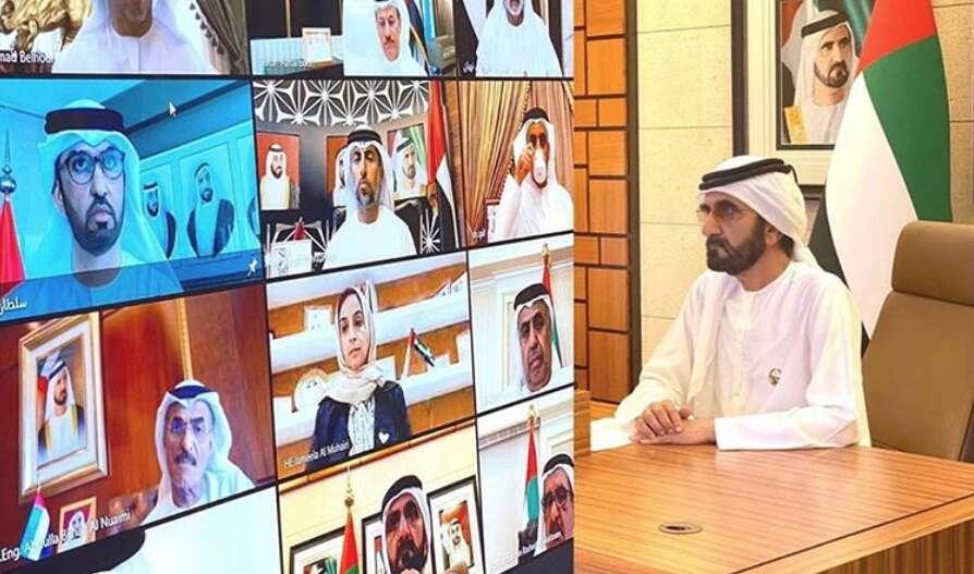 Sheikh Mohammed, coronavirus, covid-19, remote meeting, virtual meeting, cabinet meeting