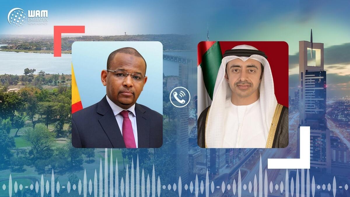 Sheikh Abdullah bin Zayed Al Nahyan, UAE, Mali, Boubou Cisse, Ramadan, coronavirus, Covid-19, telehpne call