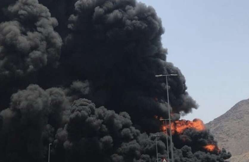 Photos: Fujairah fuel tanker fire put out in record time