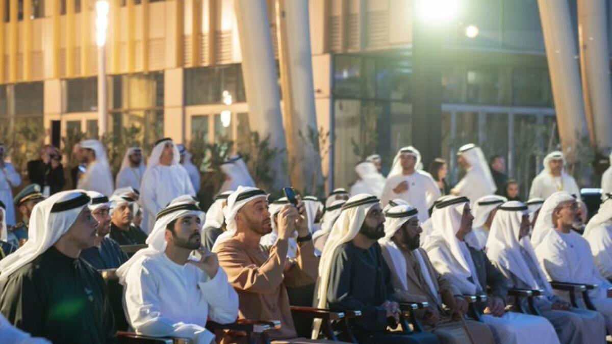"""Sheikh Mohamed said: """"Through Expo 2020, we will show the world how our union was the starting point for our development journey, and how our founding fathers established the robust foundations necessary for sustainable development and progress. We will also have an opportunity to demonstrate how the spirit of collaboration is embedded deep in our national ethos and serves as a means for progress and development. The world will also be able to better understand the achievements we have accomplished in the short period since our nation's foundation, and will learn about our traditions and heritage, our diversity and our experience of peaceful coexistence."""""""