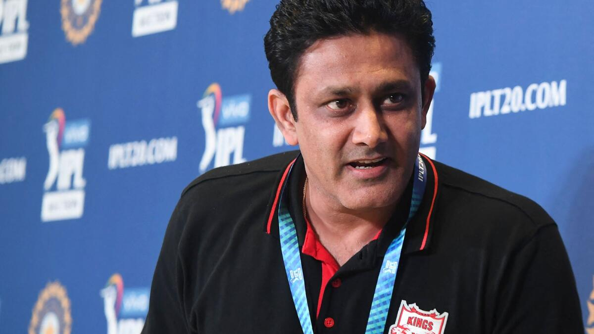 Anil Kumble during a press conference. (AFP file)