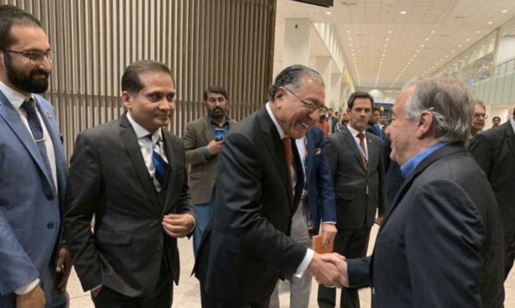 Pakistan, Antonio Guterres