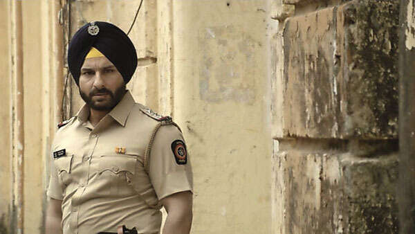 Curiously, male stars aren't as wary about double-tasking on the multiplex and the home entertainment screens. Pictured: Saif Ali Khan in Sacred Games