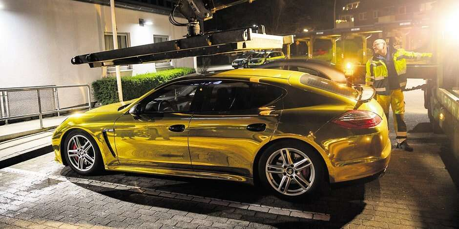 Motorist fined for driving shiny, gold Porsche