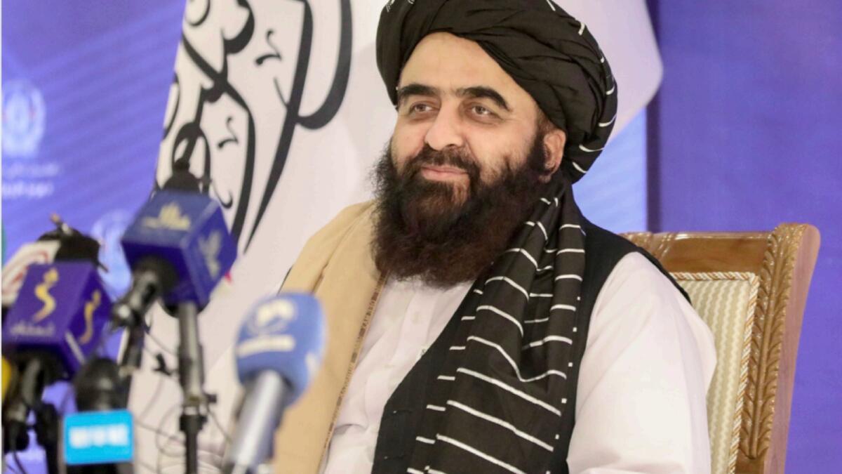 Taliban's acting Foreign Minister Amir Khan Muttaqi. — AP