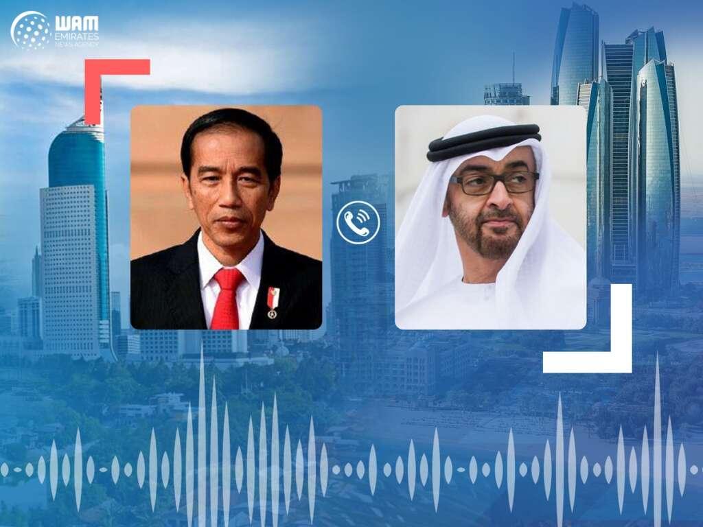 His Highness Sheikh Mohamed bin Zayed Al Nahyan, Crown Prince of Abu Dhabi, President of Indonesia, Joko Widodo, reviewed, global fight, Covid-19