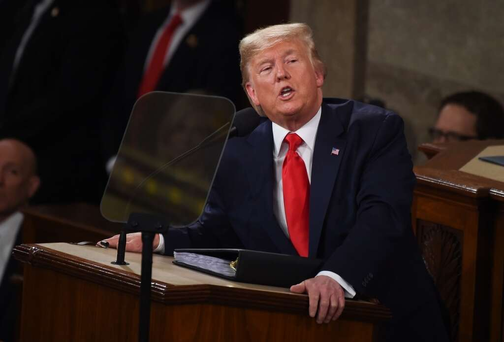 State of the Union address, Congress, Trump