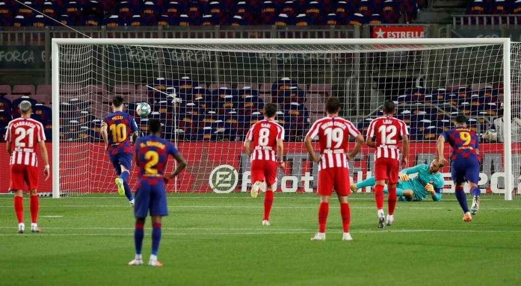 Lionel Messi, 700th career goal, Barcelona, Atletico Madrid, 2-2, draw, La Liga, Spain