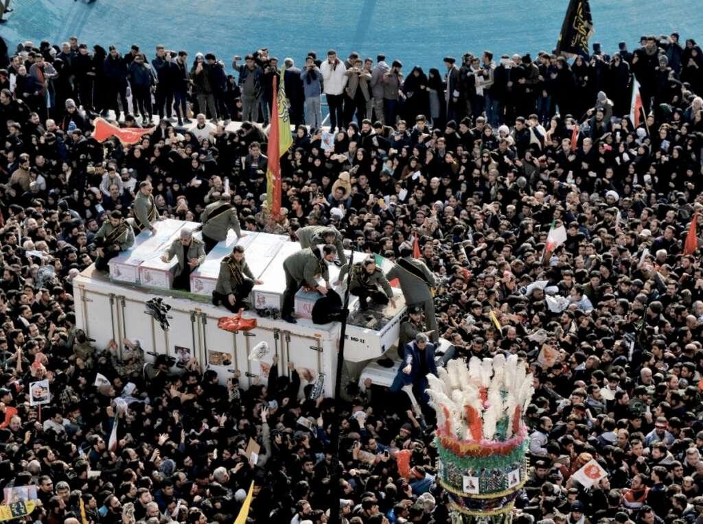 Stampede, Iran, funeral procession, Qasem Soleimani