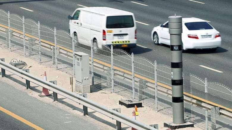 Speed cameras monitoring these UAE roads on Monday