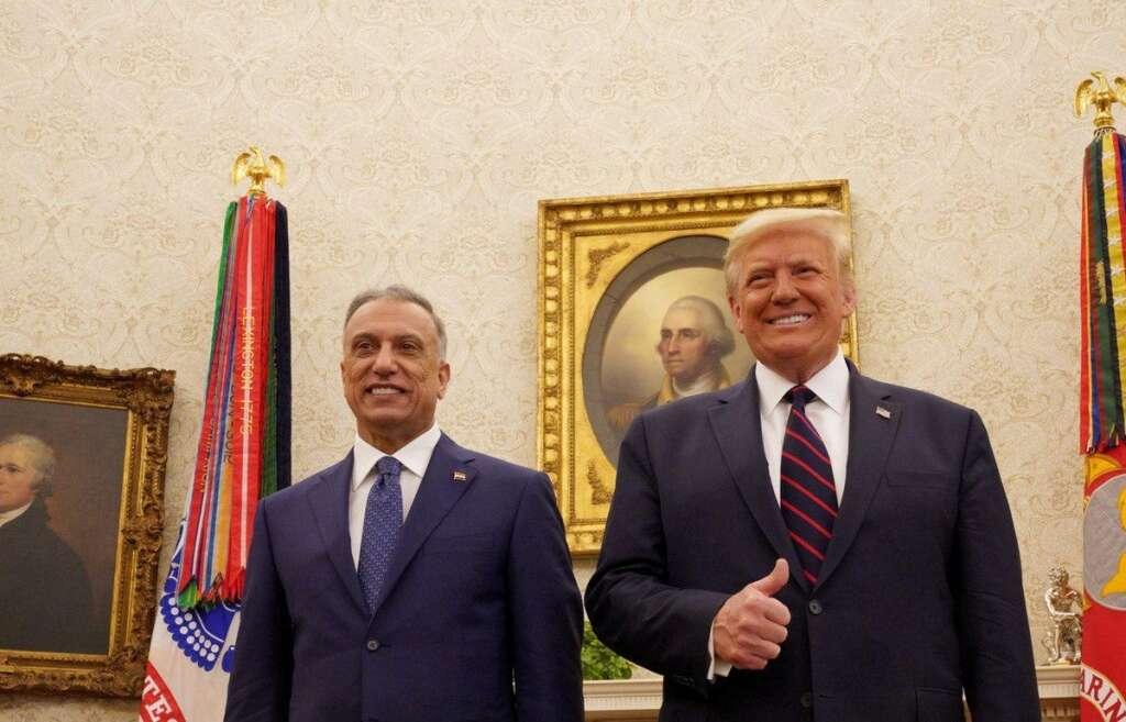 donald trump, us troops, leave, iraq, mustafa al kadhemi