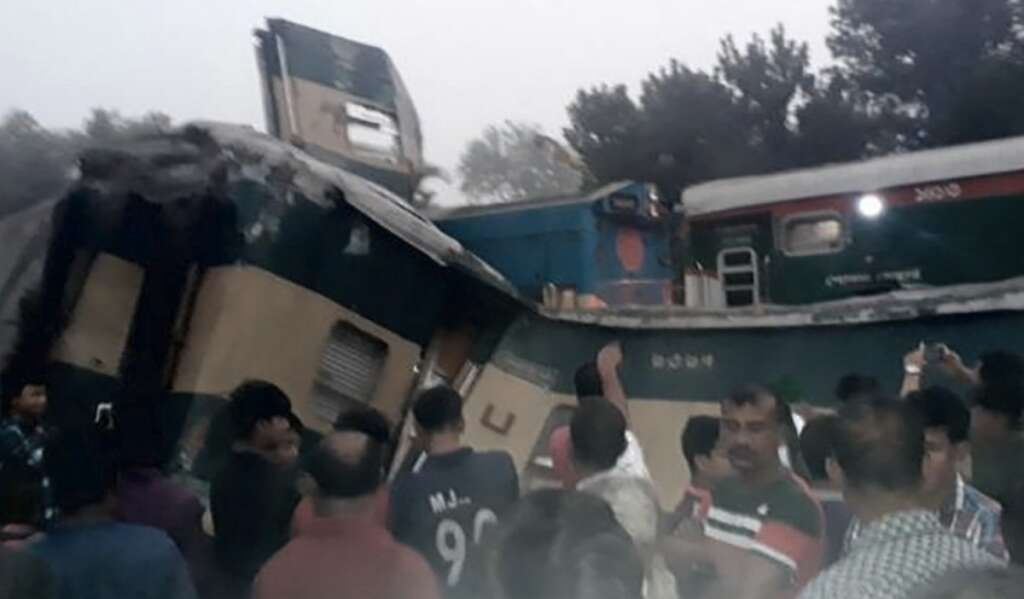 Bangladesh train collision, Mondolbhag station, train collision, accident