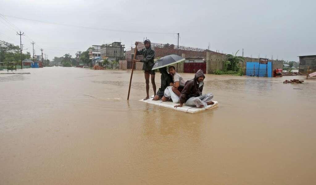 Nepal, Floods, landslides