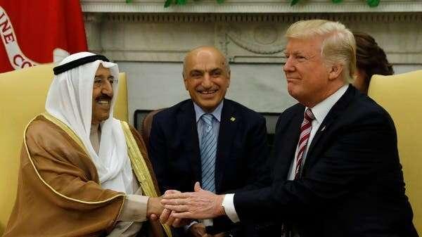 donald trump, kuwait amir sheikh sabah, white house, US Legion of Merit, Degree Chief Commander