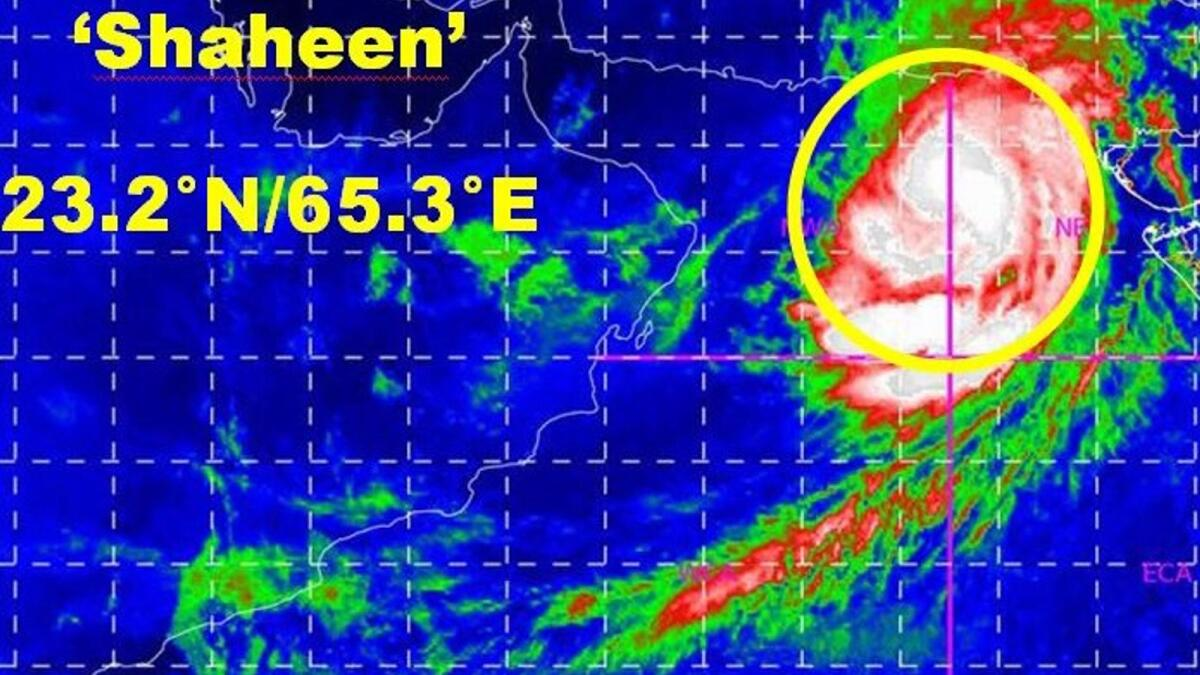 Oman issues weather alert as tropical storm 'Shaheen' moves towards coasts