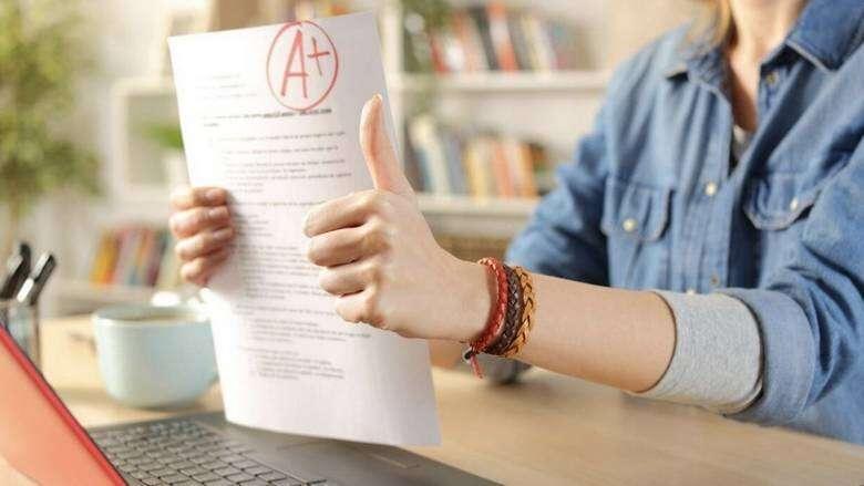 UAE students, ecstatic, revision, A-Level grades