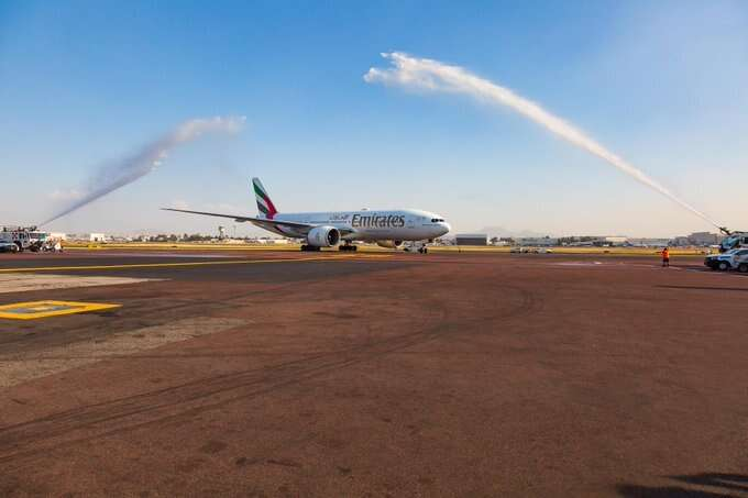 Emirates passengers thrilled as historic flight lands in Mexico City
